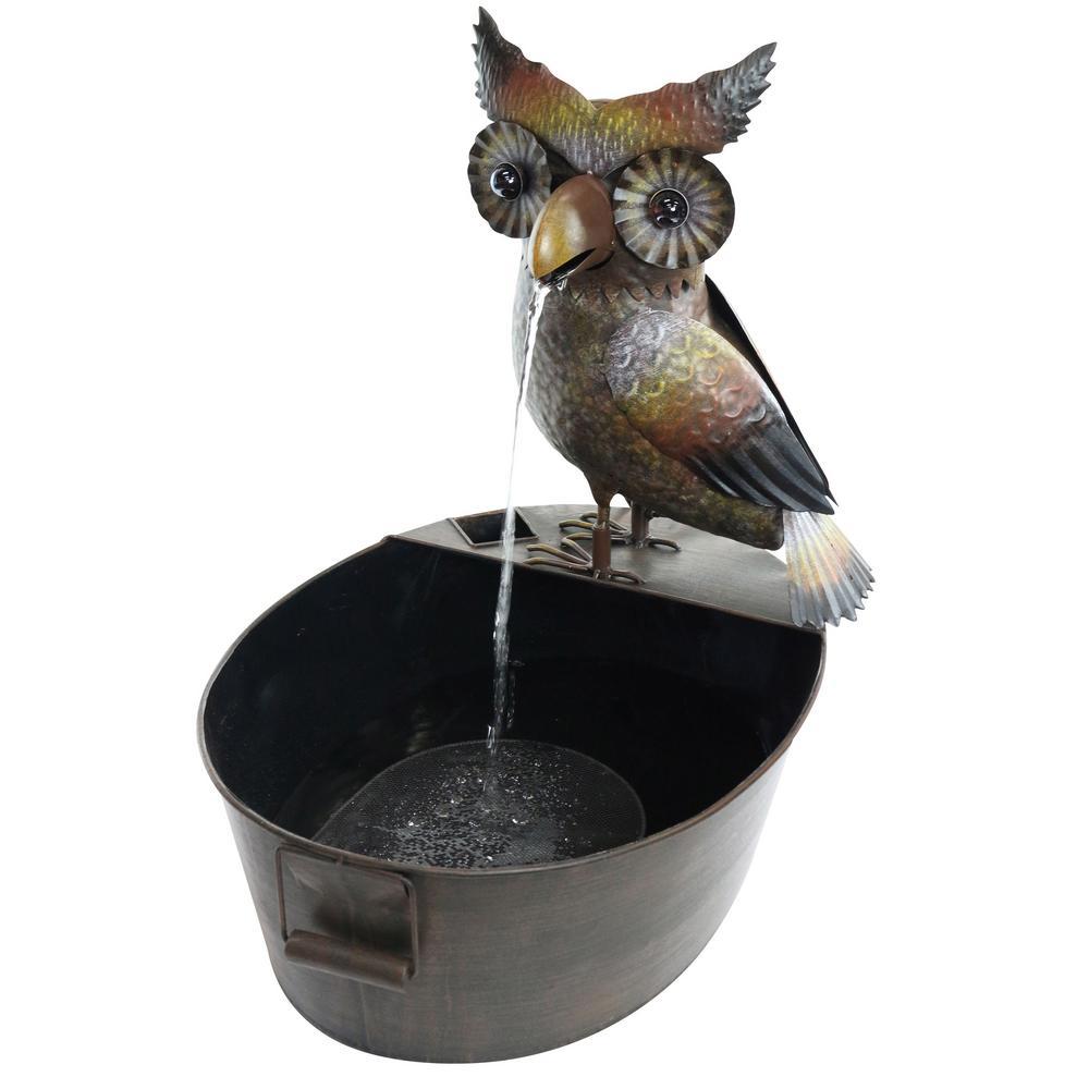 Metal Owl Fountain