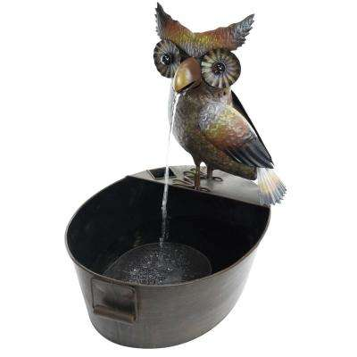 Metal Owl Fountain
