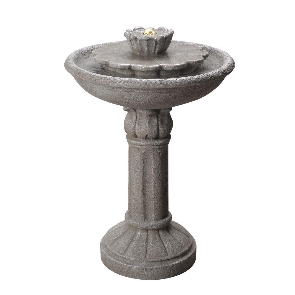 Nymph Resin Fountain Birdbath