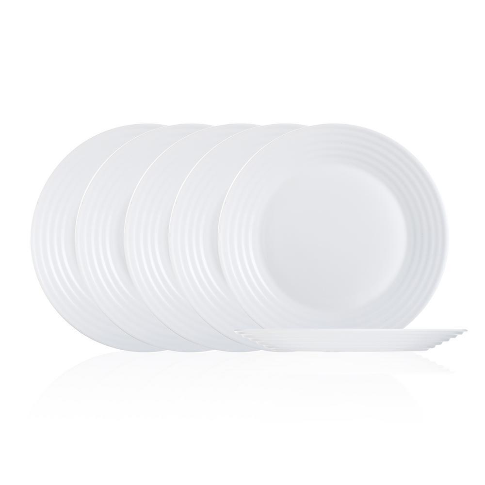 Harena White Dinner Plate Set (6-Piece)