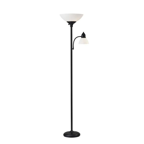 Glenn 71 in. Black Floor Lamp