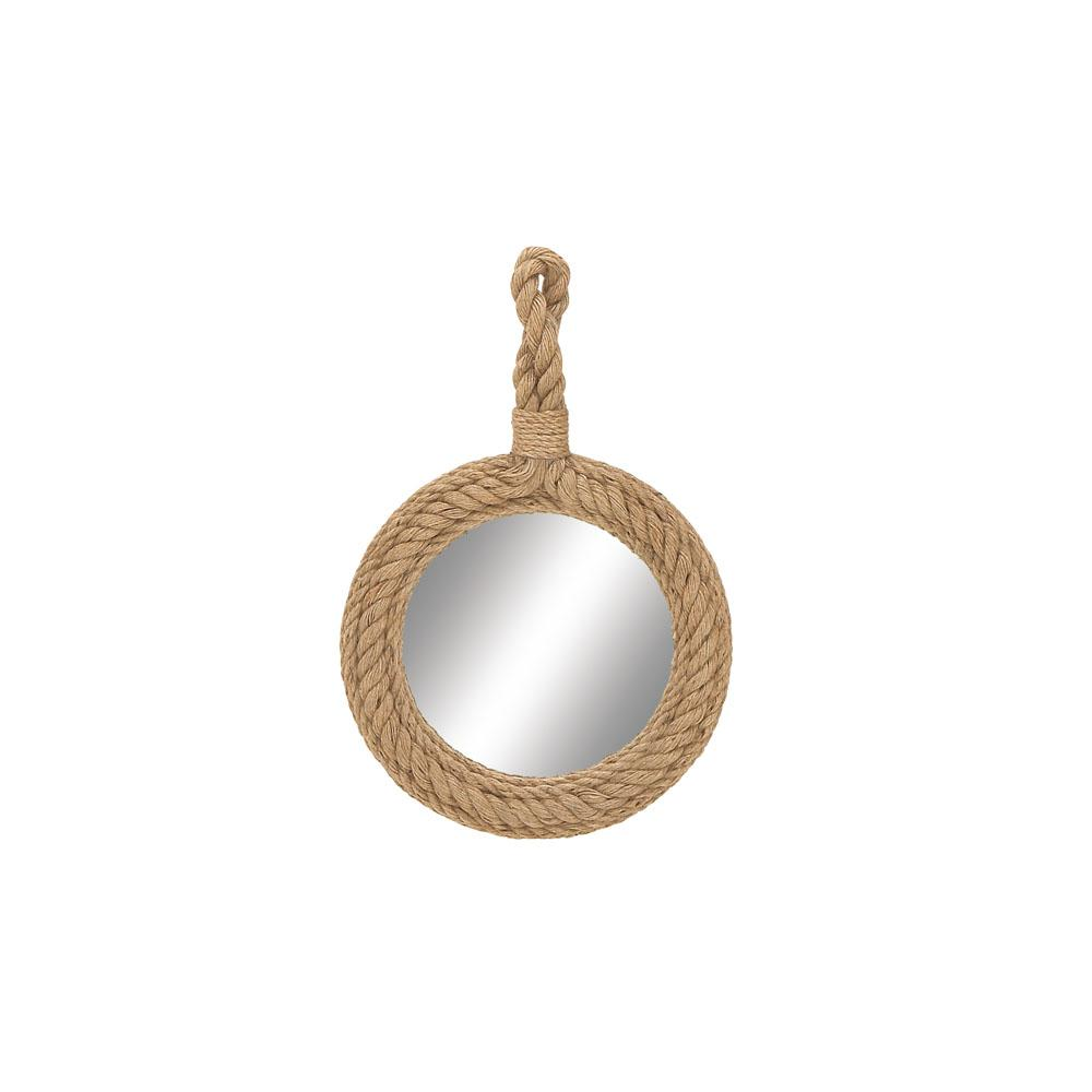 Round Tan Rope Frame Hanging Wall Mirror 68570 The Home Depot