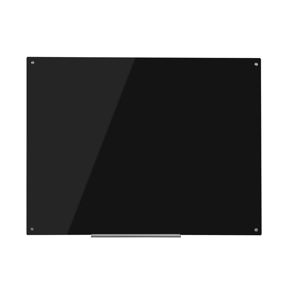 Eddington 36 in. x 48 in. Magnetic Glass Dry Erase Board in Black