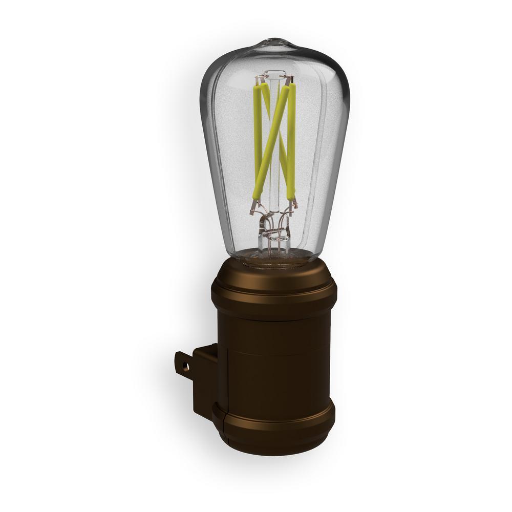 Aged Bronze Automatic Vintage Edison LED Night Light