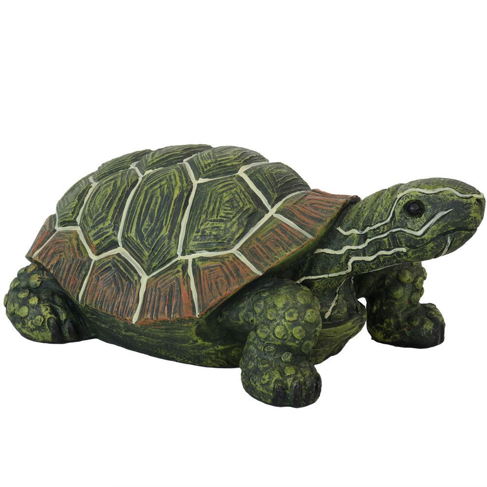9 in. Terrance the Tortoise Indoor-Outdoor Lawn and Garden Statue
