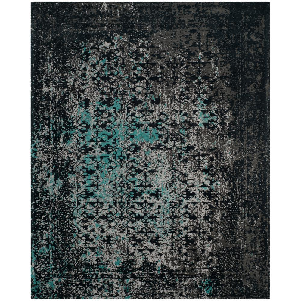 Safavieh Classic Vintage Navyteal 8 Ft X 10 Ft Area Rug Clv223c 8