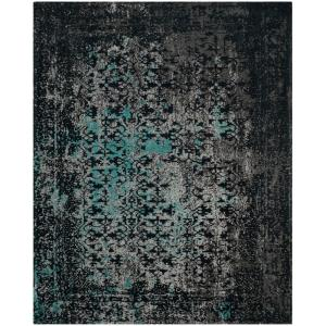 safavieh classic vintage navyteal 8 ft x 10 ft area rugclv223c8 the home depot