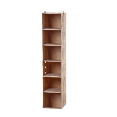 11.8 in. x 60.6 in. 6-Shelf Closet Organizer