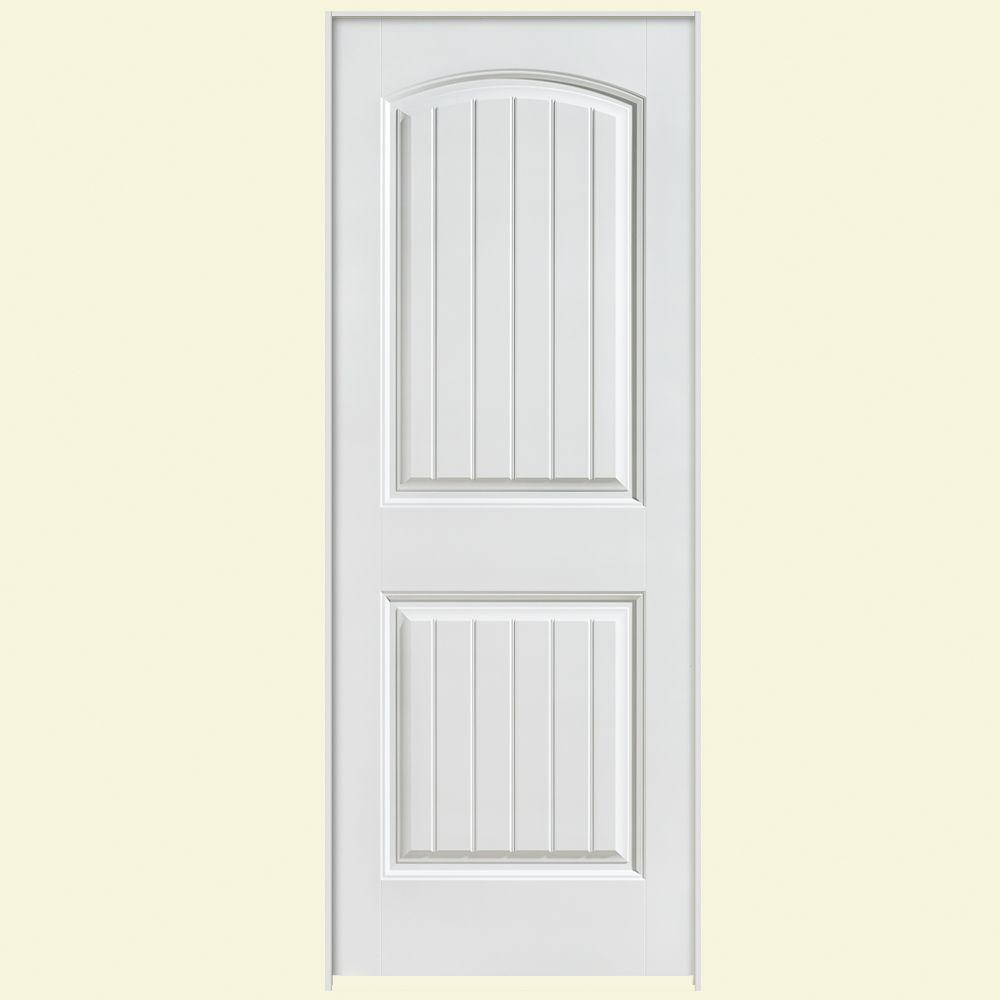 Masonite 28 in. x 80 in. Solidoor Cheyenne 2-Panel Solid-Core Smooth Primed Composite Single Prehung Interior Door