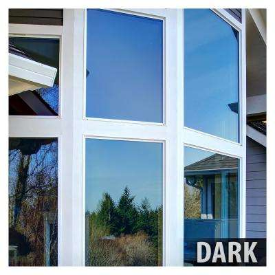 48 in. x 50 ft. PRBL Premium Blue Color Heat Control and Daytime Privacy Window Film