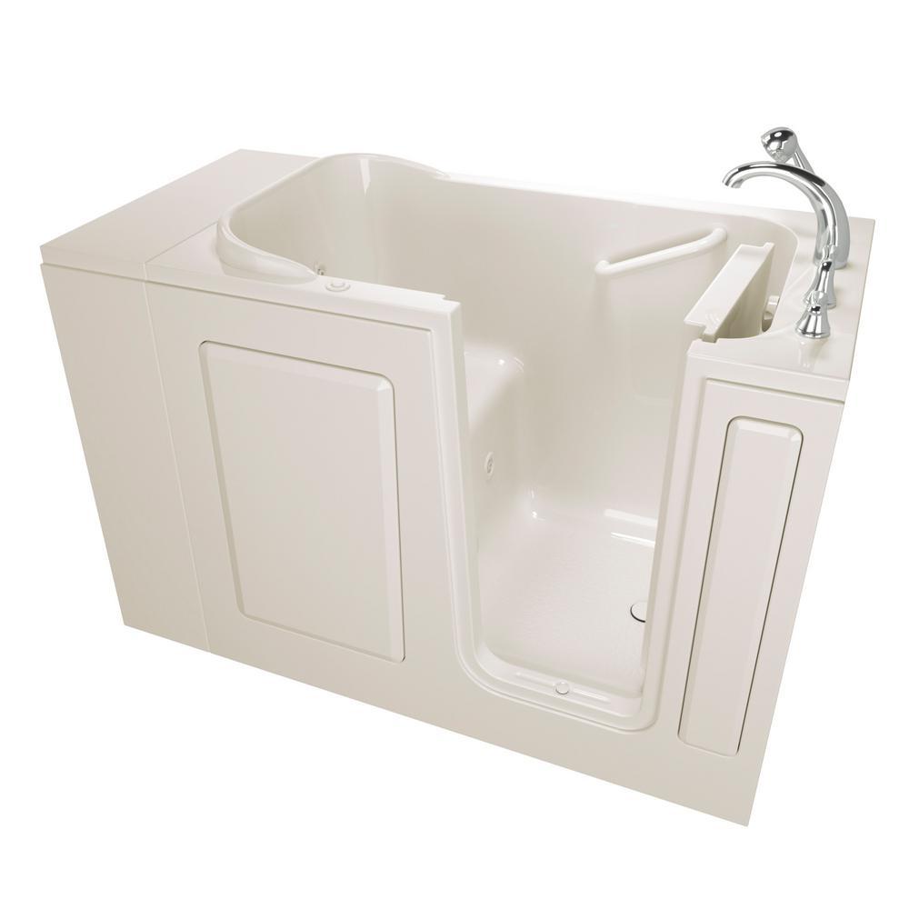 Value Series 48 in.Walk-In Whirlpool Bathtub in Biscuit