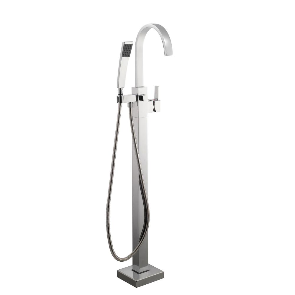 Farrington Single-Handle Freestanding Floor Mount Tub Faucet with Handheld