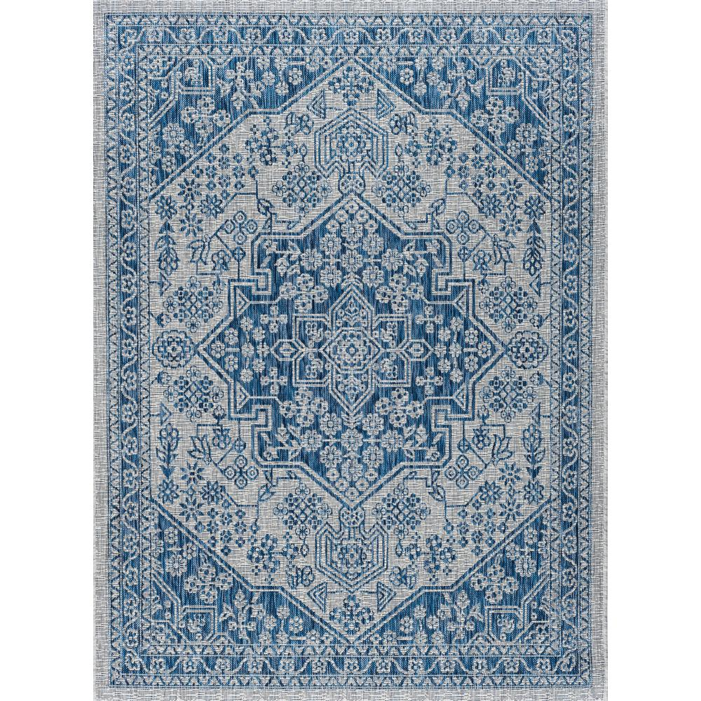 8x10 Indoor Outdoor Area Rugs: Tayse Rugs Veranda Indigo 7 Ft. 10 In. X 10 Ft. 3 In