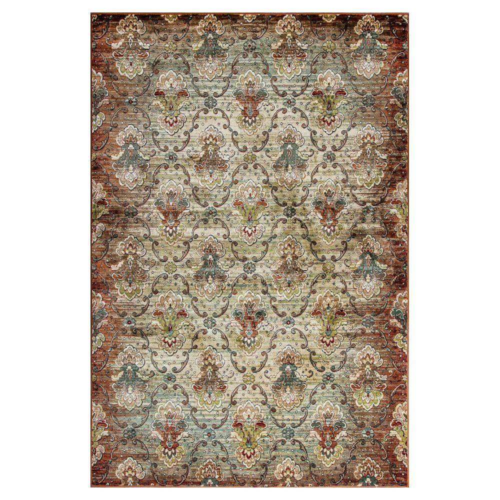 Kas Rugs Jefferson Multi 5 ft. x 8 ft. Area Rug Complete any floor with this Kas Rugs 5 ft. x 8 ft. Area Rug. This woven rug has stain-resistant fabrics and fade-resistant materials. It has an oriental motif, which contributes an ornate appearance to your home design with a classic sophistication. Crafted with multi-colored elements, it is ideal if you are looking to illuminate your decor with a bright staple. It has a 100% viscose construction, providing both style and unsurpassed comfort to any flooring.