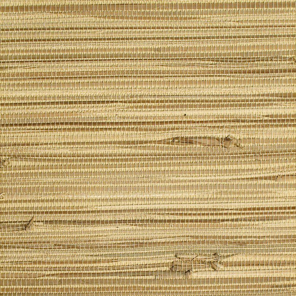 The Wallpaper Company 8 in. x 10 in. Beige Grasscloth Wallpaper Sample-DISCONTINUED