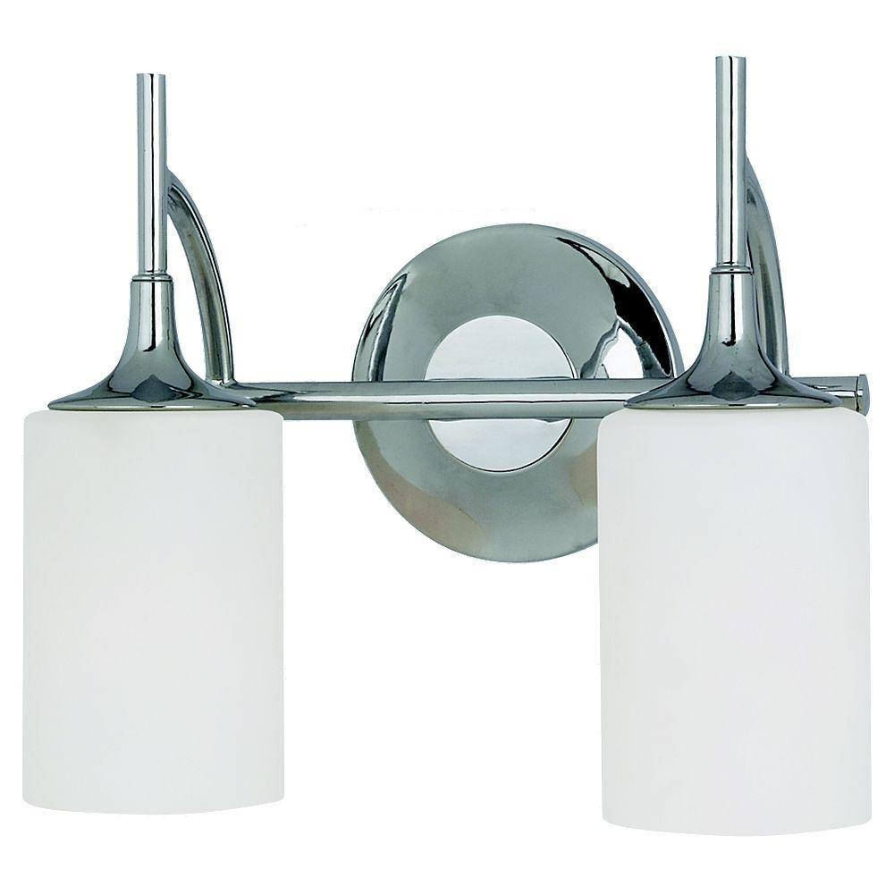 Sea Gull Lighting Stirling 2-Light Chrome Vanity Light
