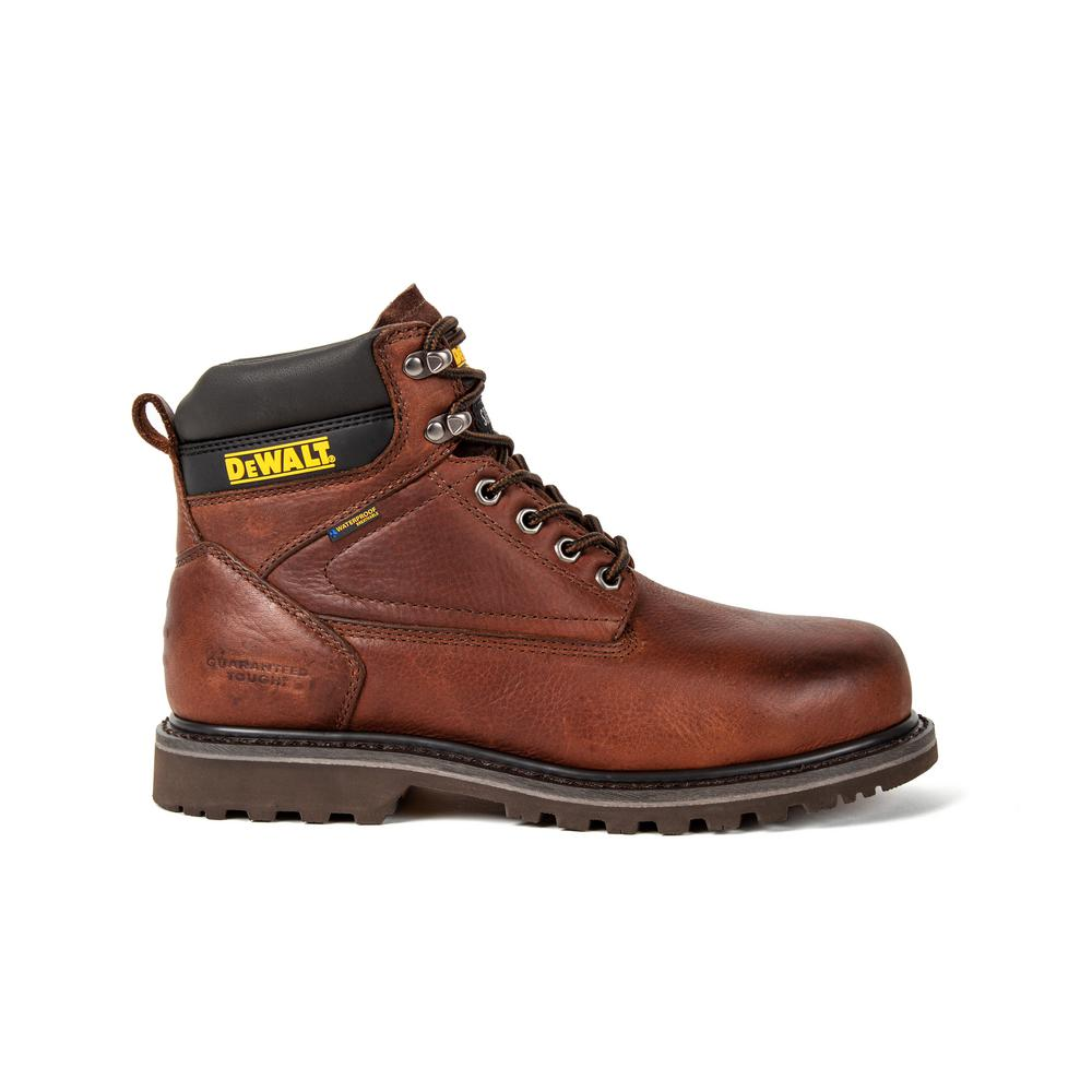 DEWALT Men's Axle Waterproof 6 Inch Work Boots - Steel Toe - Walnut Pitstop Size 12(W)