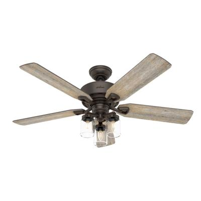 Devon Park 52 in. LED Indoor Onyx Bengal Ceiling Fan with Light and Remote Control