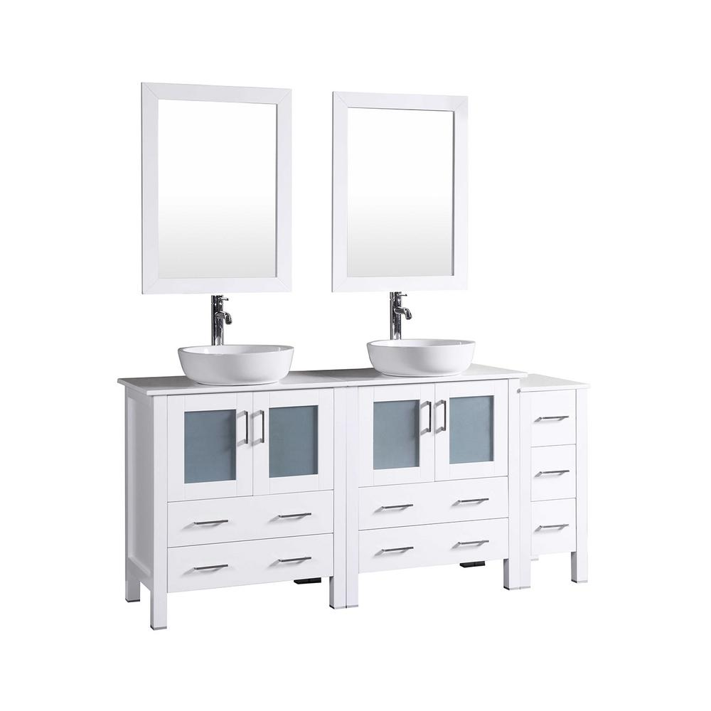 Double bathroom vanities with tops