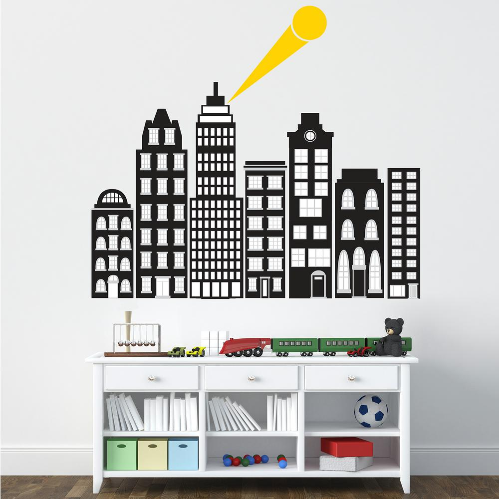 Black City of Heroes Wall Decal