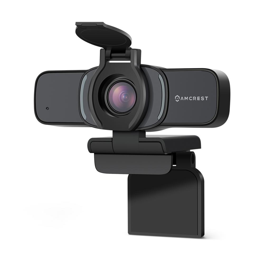Amcrest ProHD 1080P Wired Webcam with Privacy Cover, USB Webcam for Live Streaming, Desktop and Laptop Webcam, Built-in Mic, Black