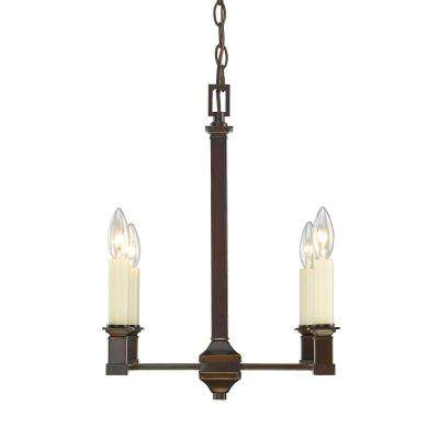 Bradley 4-Light Cordoban Bronze Chandelier