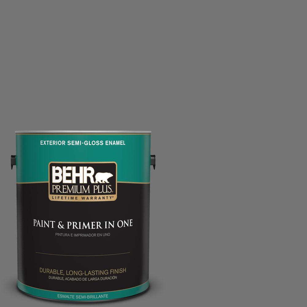 1-gal. #N520-5 Iron Mountain Semi-Gloss Enamel Exterior Paint