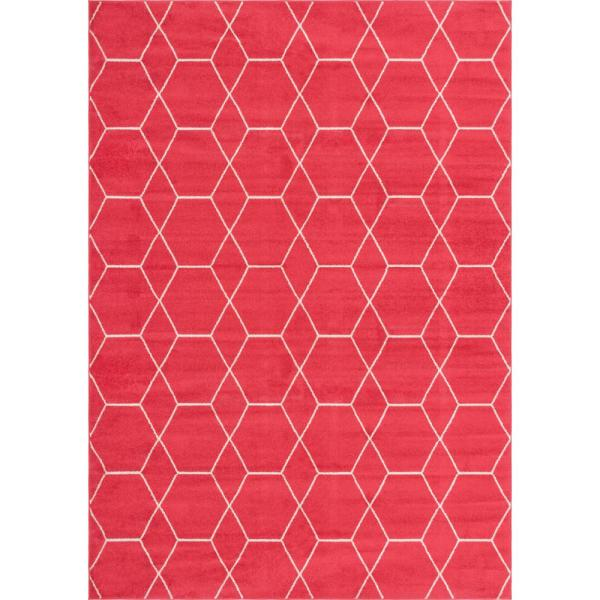 Trellis Frieze Pink/Ivory 10 ft. x 14 ft. Geometric Area Rug