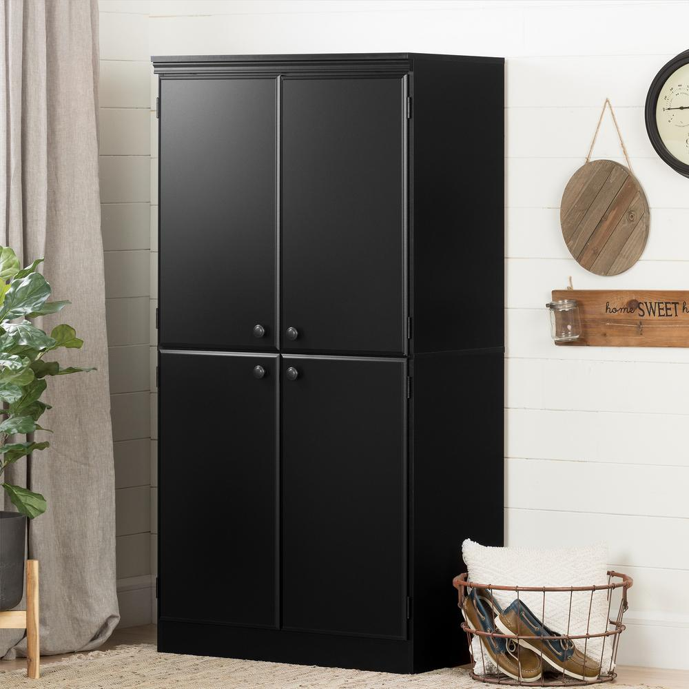 South S Morgan Pure Black Storage Cabinet