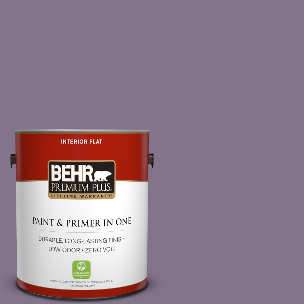 BEHR Premium Plus 1-gal. #S100-5 Purple Potion Flat Interior Paint