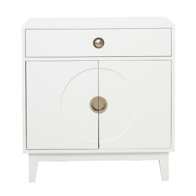 Mid-Century Modern White Accent Chest