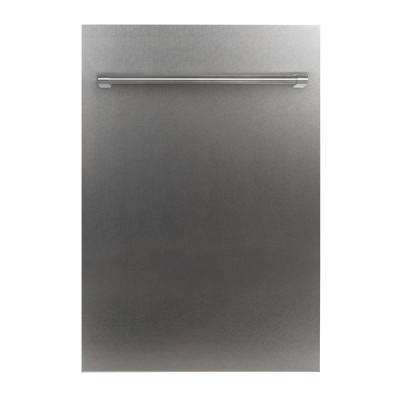 18 in. Top Control Dishwasher in Snow Finished Stainless Steel with Stainless Steel Tub and Traditional Style Handle