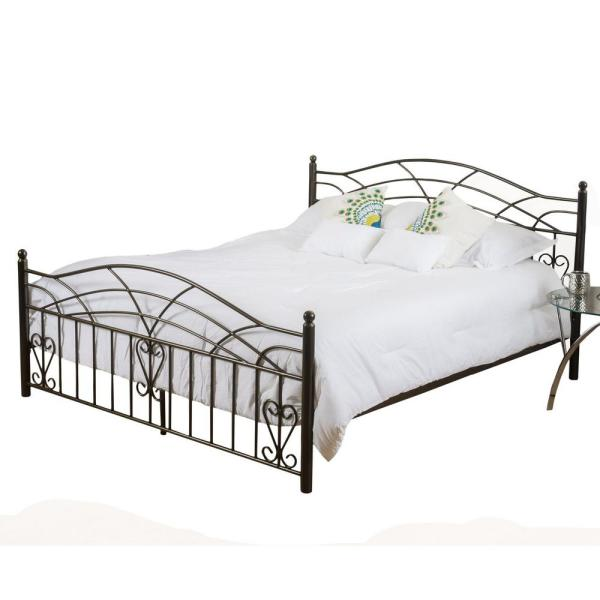 Copper Gold Iron Victorian King Bed Frame