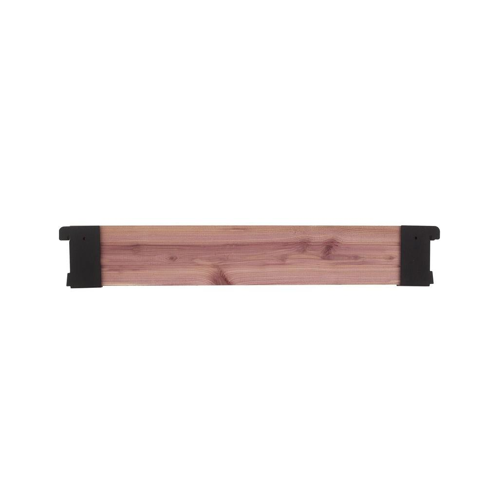 18 in. Wood Plank with Brackets
