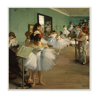 "12 in. x 12 in. ""Degas The Dance Class Ballet Classical Painting"" by Edgar Degas Wood Wall Art"