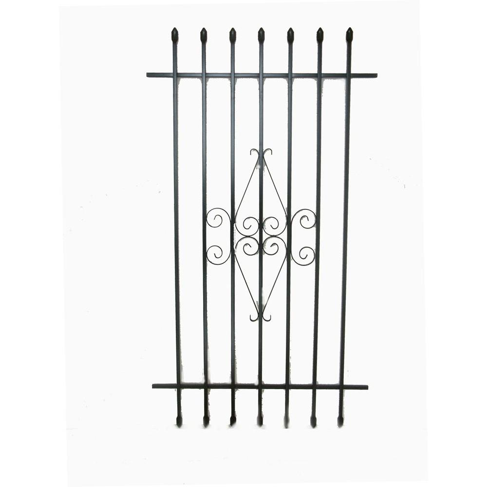Grisham 30 in. x 54 in. Spear Point Window Bar Guard