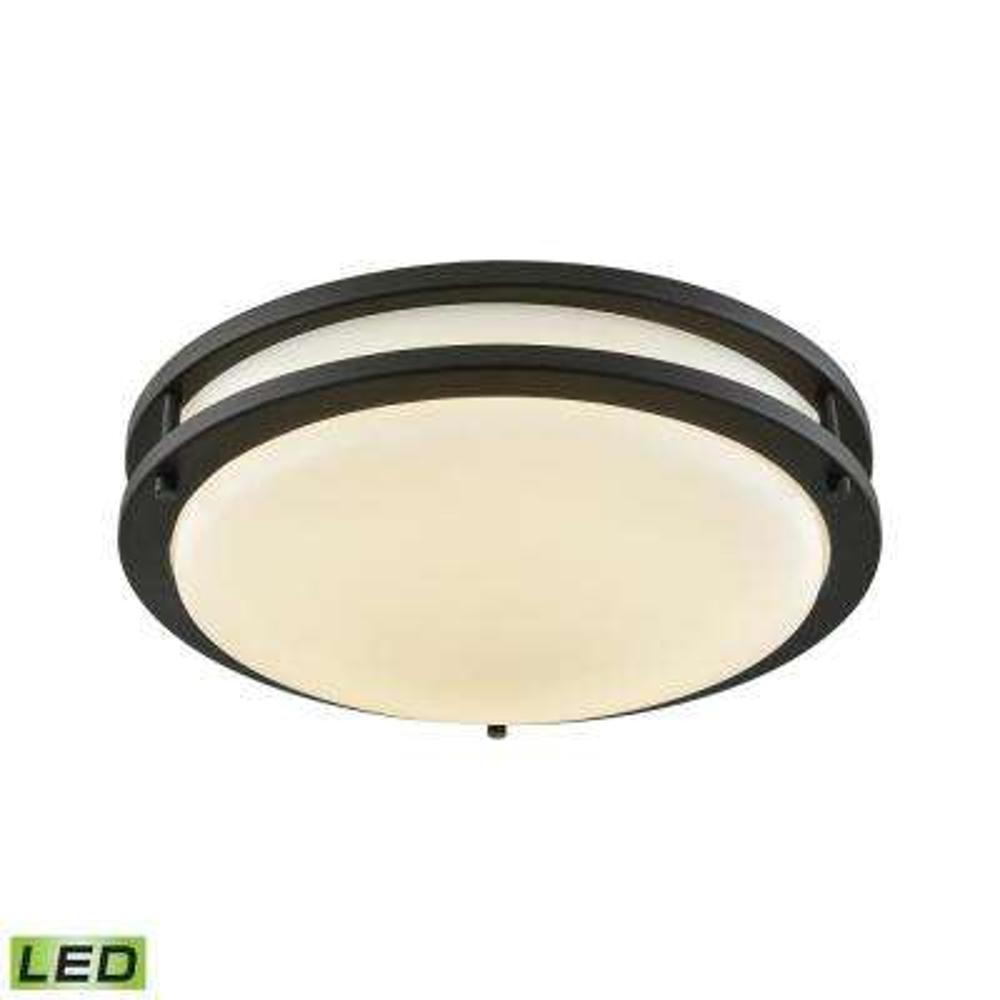 Clarion 60-Watt Oil Rubbed Bronze Integrated LED Flushmount