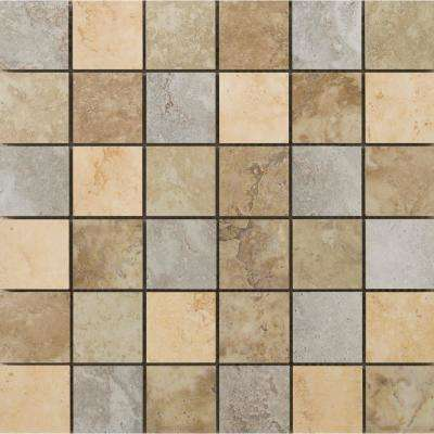 Lucerne Multicolor 9.02 in. x 9.02 in. x 9mm Porcelain Mesh-Mounted Mosaic Tile
