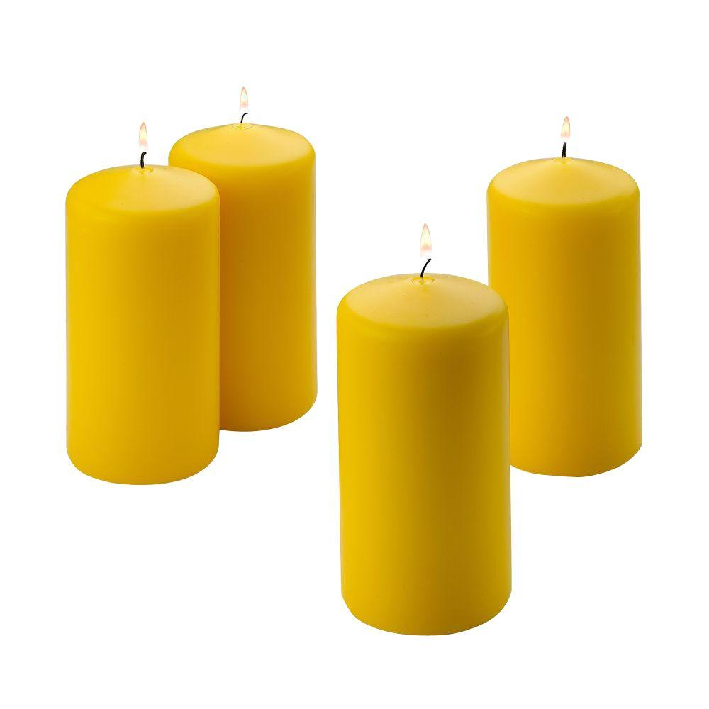 Light In The Dark 6 in. Tall x 3 in. Wide Citronella Scented Pillar Candle (Set of 4)