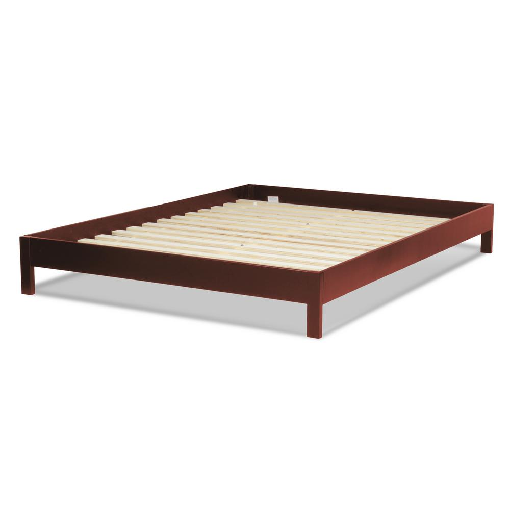 Fashion bed group murray mahogany california king platform bed with wooden box frame