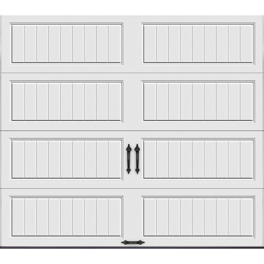 Clopay Gallery Collection 8 ft. x 7 ft. 18.4 R-Value Intellicore Insulated Solid White Garage Door