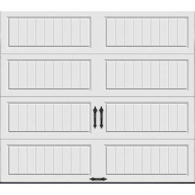 Gallery Collection 8 ft. x 7 ft. 18.4 R-Value Intellicore Insulated Solid White Garage Door