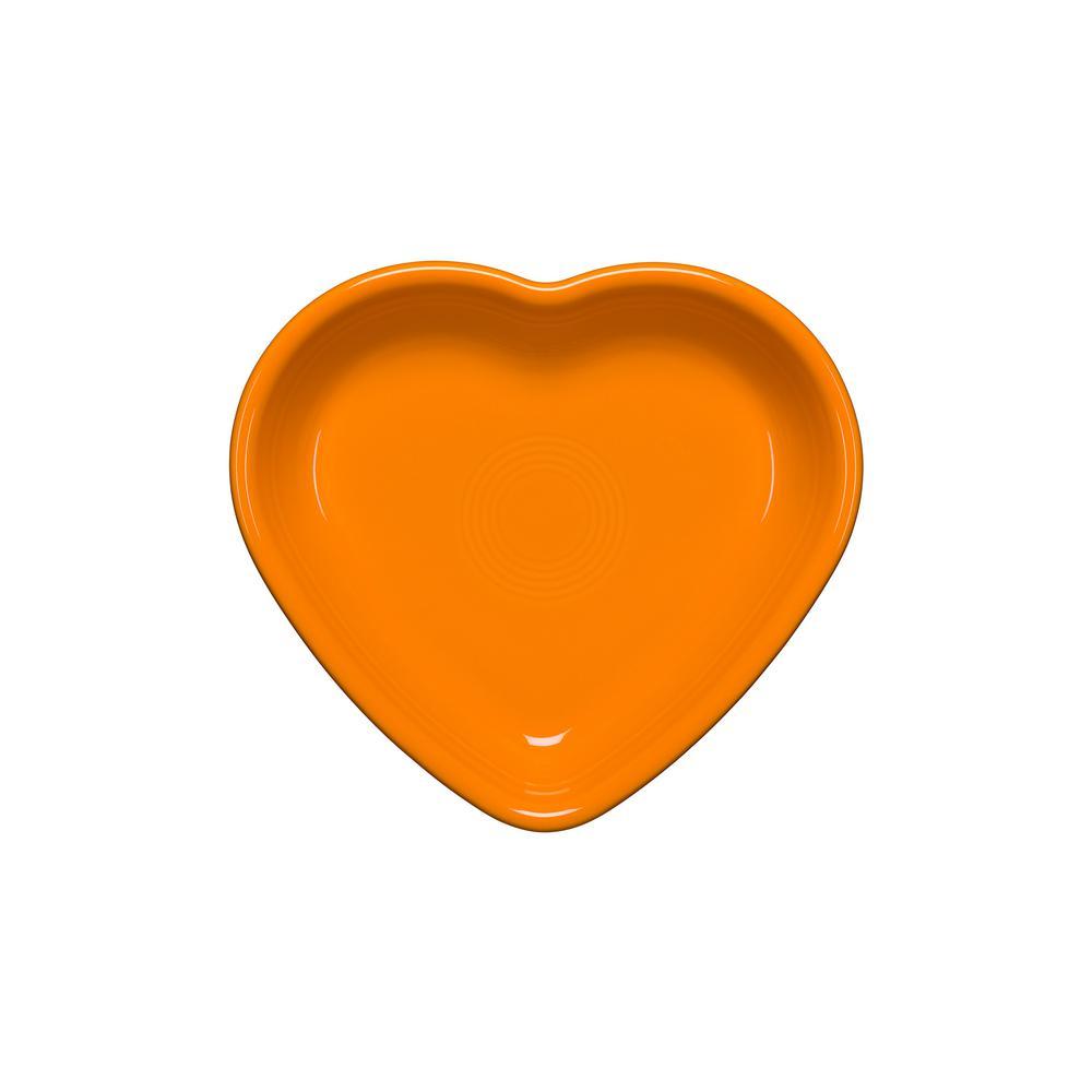 Butterscotch Ceramic 17 oz. Medium Heart Bowl