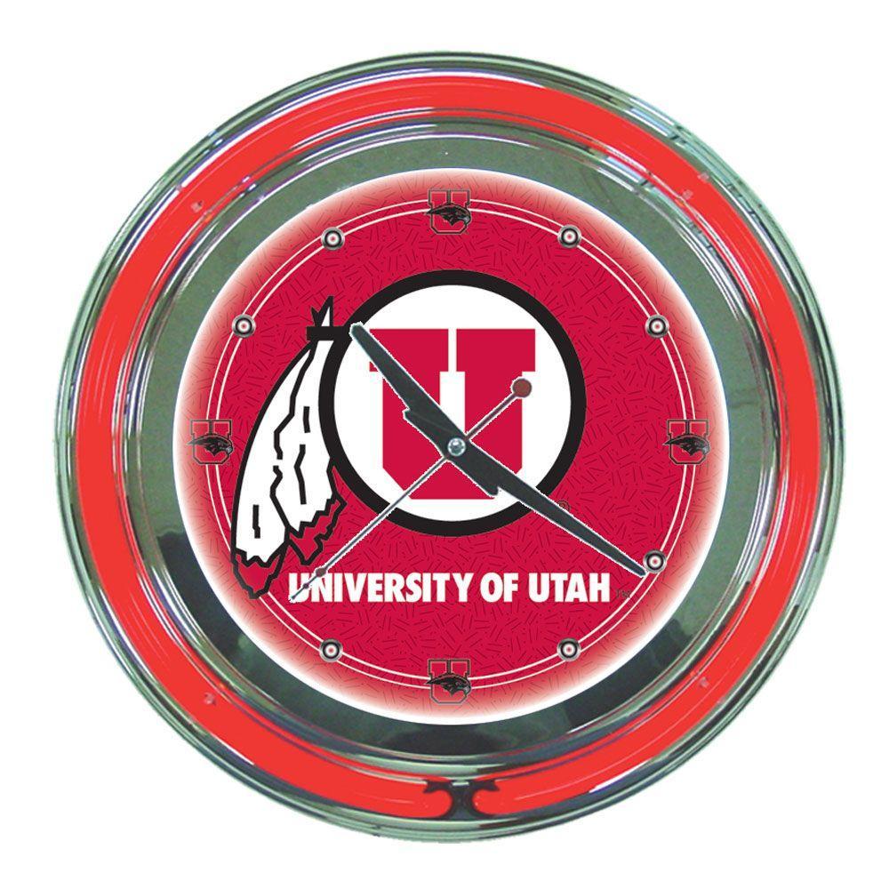 14 in. University of Utah Neon Wall Clock