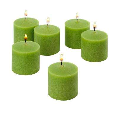 10 Hour Lime Green Unscented Votive Candles (Set of 12)