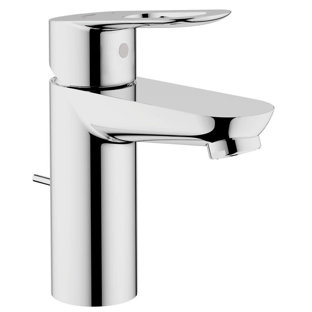grohe bathroom sink drain parts. bauloop basin mixer 4 in. centerset single handle ohm bathroom faucet in starlight chrome with grohe sink drain parts o
