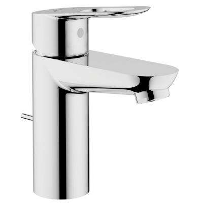BauLoop Basin Mixer 4 in. Centerset Single Handle OHM Bathroom Faucet in StarLight Chrome with Pop-Up