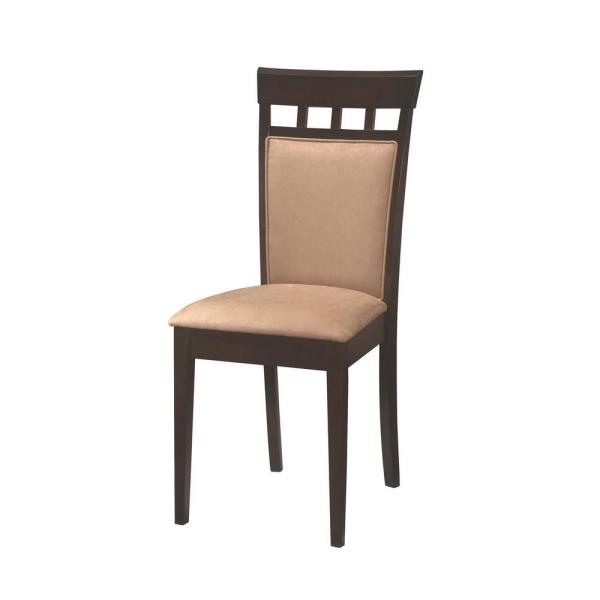 Coaster Gabriel Collection Cappuccino and Beige Side Chair (Set of 2)