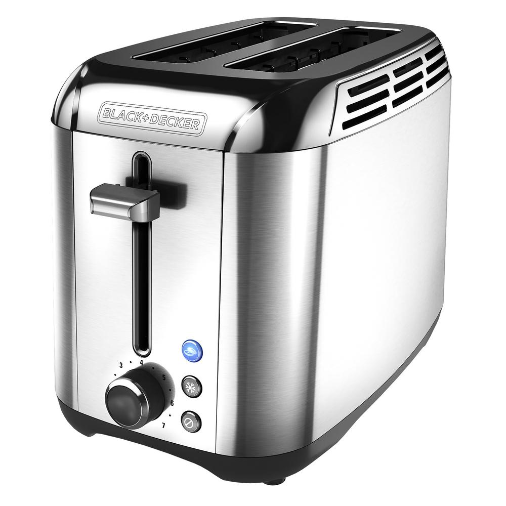 BLACK+DECKER Rapid Toast 2-Slice Stainless Toaster