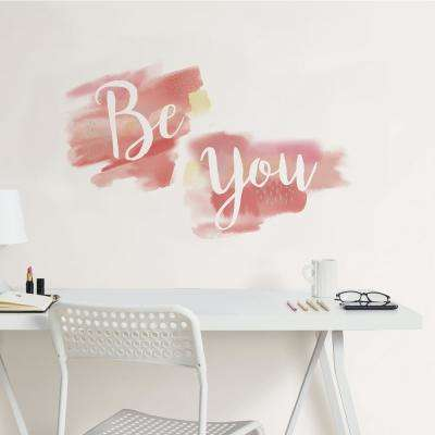 17.25 in. x 19.5 in. Pink Be You Wall Quote